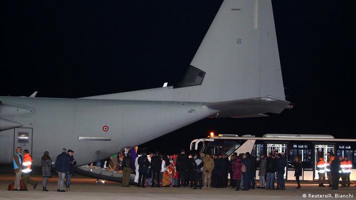 Italien - Ankunft libyscher Flüchtlinge in Rom