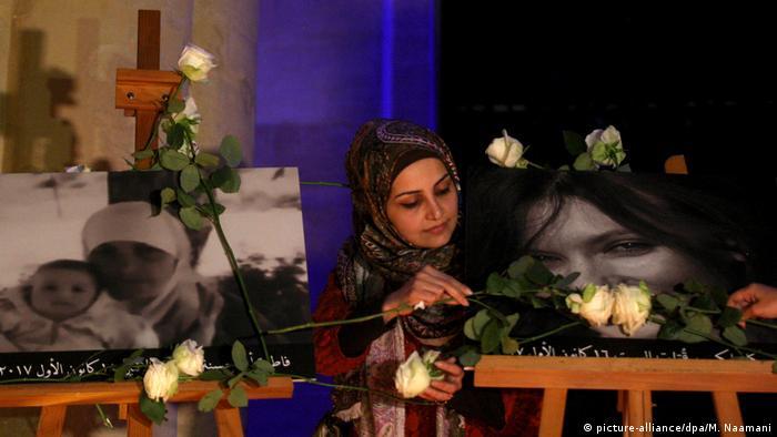 Libanon - Mahnwache für erdrosselte Diplomatin in Beirut (picture-alliance/dpa/M. Naamani)