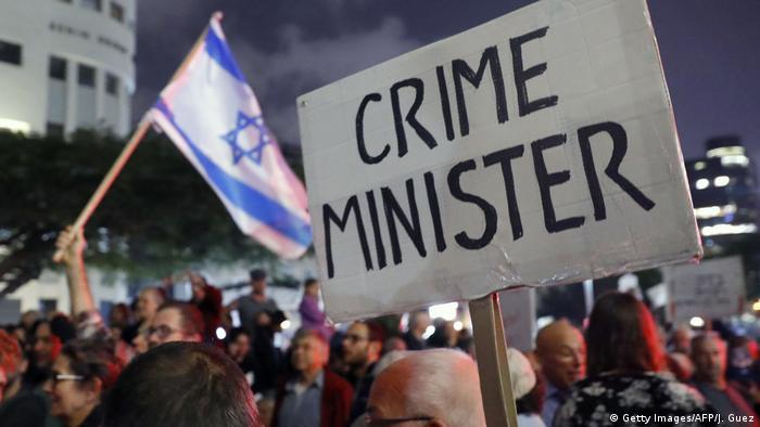 Israel Tel Aviv - Proteste gegen Korruption (Getty Images/AFP/J. Guez)