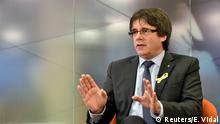 Former Catalan president Carles Puigdemont attends an interview with Reuters in Brussels, Belgium, December 23, 2017. REUTERS/Eric Vidal