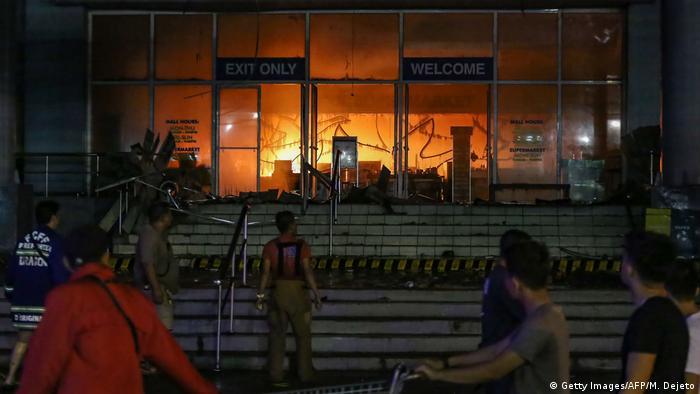 Philipinen Davao City - Brand in Einkaufszentrum