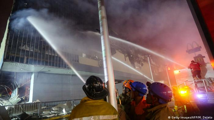 Philipinen Davao City - Brand in Einkaufszentrum (Getty Images/AFP/M. Dejeto)
