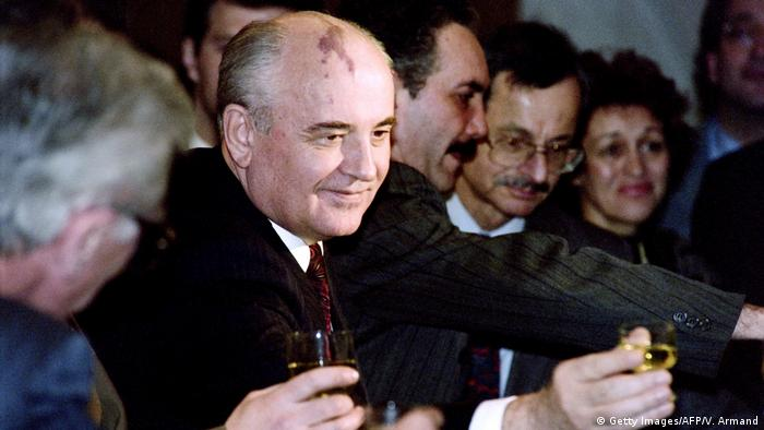 Gorbachev at his farewell party in 1991 (Getty Images/AFP/V. Armand)