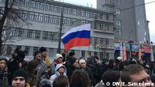 Russland Moskau Demonstration Opposition