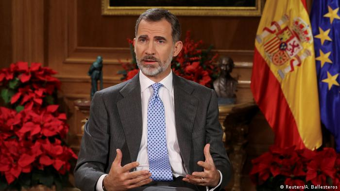 Spanien | Weihnachtsansprache König Felipe von Spanien (Reuters/A. Ballesteros)