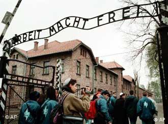 Ворота в мемориальный комплекс Освенцим