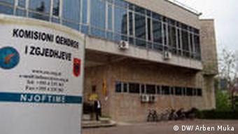 Zentrale der Wahlkommision in Tirana (DW/ Arben Muka)