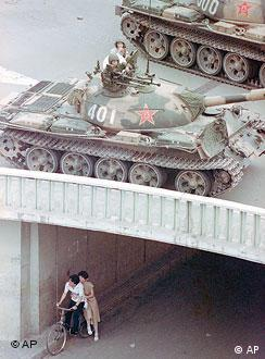 Chinese troops crushed a pro-democracy demonstration held by students on June 4