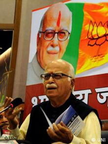 Veteran L K Advani in Indien