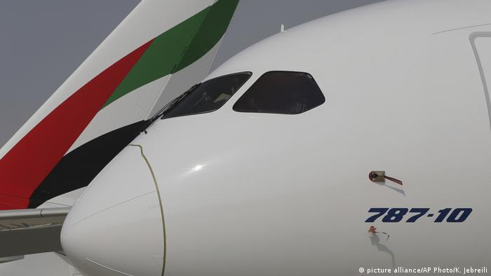 Emirates Airline | Boeing 787-10 Dreamliner (picture alliance/AP Photo/K. Jebreili)