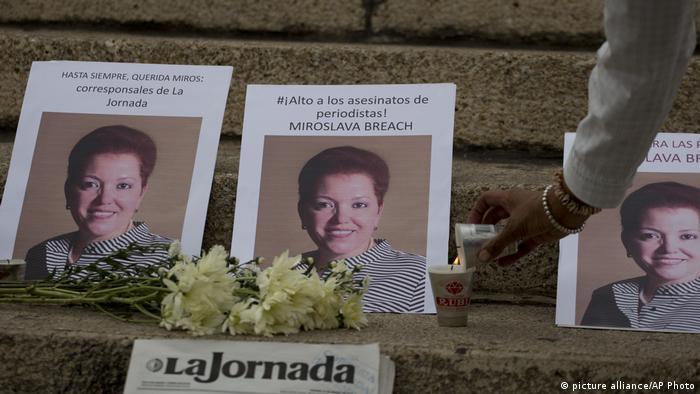 En países como México, el ejercicio del periodismo puede costar la vida. En la imagen, Miroslava Breach, asesinada en marzo de 2017.