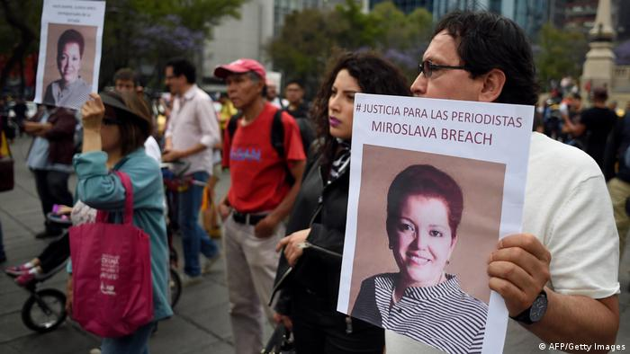 Mexiko | Gedenken an die ermordete Journalistin Miroslava Breach (AFP/Getty Images)
