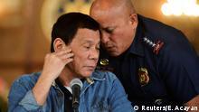 Philippinen - Präsident Rodrigo Duterte und der Polizeichef Ronald Dela Rosa
