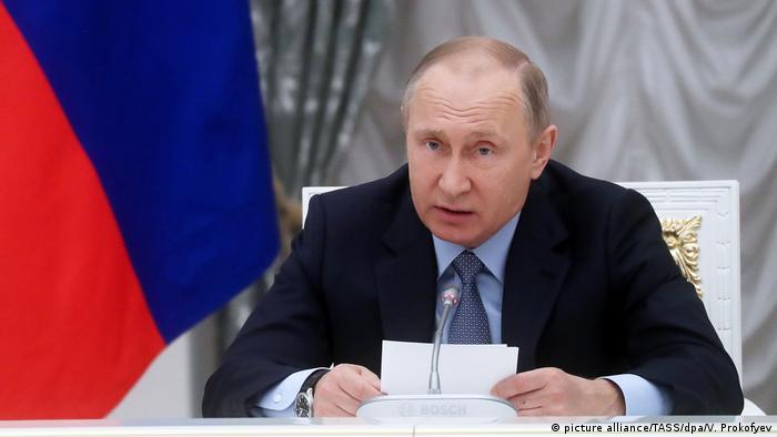 """""""Lista Putin"""" de Washington é ato hostil, diz presidente russo"""