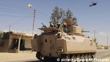 Ägypten Truppen im Nord-Sinai