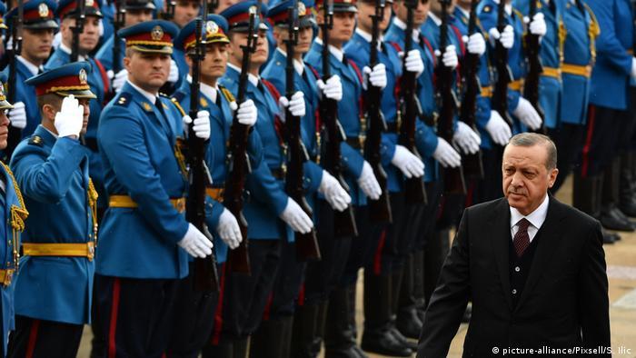 Turkish President Recep Tayyip Erdogan in Serbia