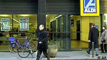 A store by supermarket giant Aldi is seen in Cologne, Germany, in this Jan. 2, 2002 file picture. Aldi is recalling shrimp sold in stores in two German states after it was determined to be tainted with an antibiotic banned by the European Union, a health official said Saturday Jan. 26, 2002. (AP Photo/Hermann J. Knippertz) --zu APD1296