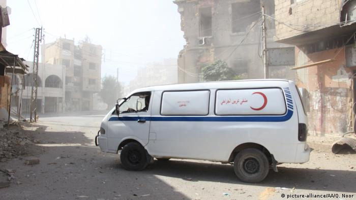 An ambulance of the Syrian Red Cross