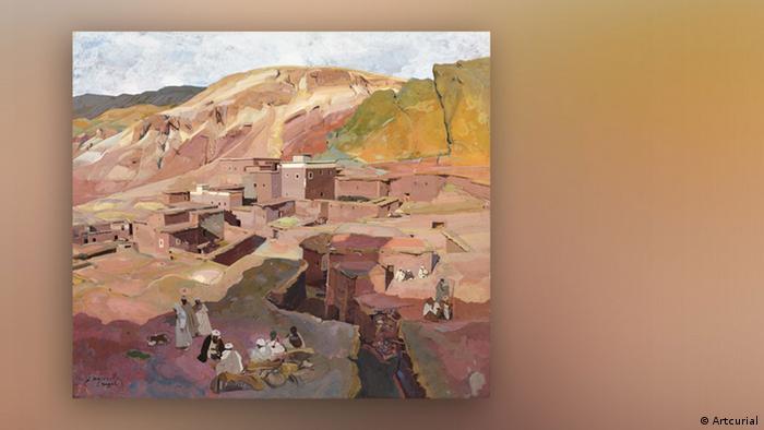 Jacques Majroelle: Kasbah de Tasgah, Vallée de Télouet (Artcurial)