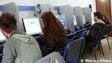 Albanien Land und Leute Internet Cafe in Tirana