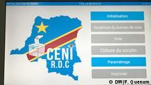 Demokratischen Republik Kongo | Wahlkommision | Foto: Fréjus Quenum / DW Wahlautomat