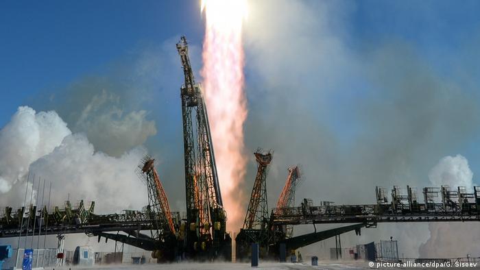 Russland Symbolbild Raketenstart in Baikonur
