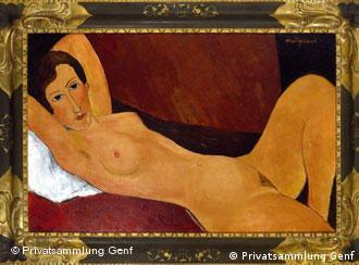 'Nu reclinado (Céline Howard)', de 1918