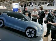 Electroauto E3 en la Feria de Hannover 2009.