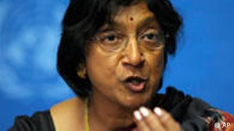 UN High Commissioner for Human Rights Navanethem Pillay