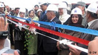 افتتاح پروژهى گازرسانى در جوزجان افغانستان در آوريل ۲۰۰۹