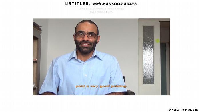 Screenshot UNTITLED, with Mansoor Adayfi | Postprint Magazine