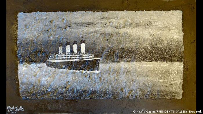 Titanic by Khalid Qasim from the exhibition Art from Guantanamo