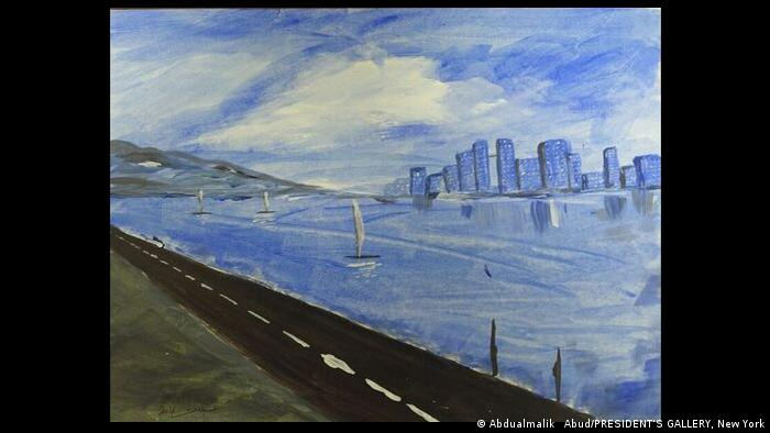 Cityscape by Abdel Malik Al Rahab from the exhibition Art from Guantanamo