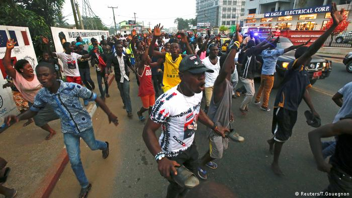Liberians in streets