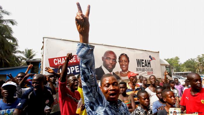 Liberia Präsidentschaftswahlen Anhänger George Weah