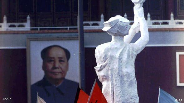 China Flashgalerie Peking Tiananmen Jahrestag 30 Mai 1989 Göttin der Demokratie (AP)