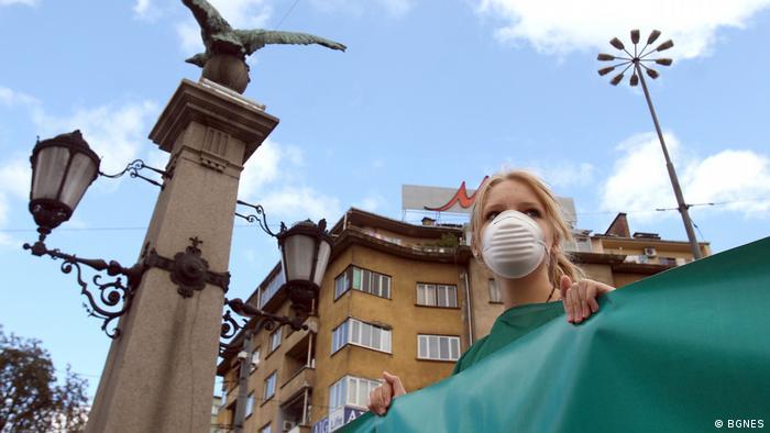Протест в София срещу замърсяването на въздуха. Септември 2017.