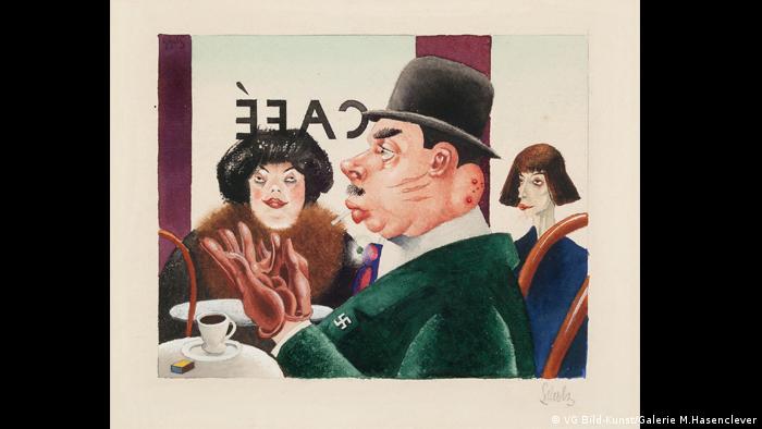 Георг Шольц. Кафе (Рыцарь свастики) (1921)