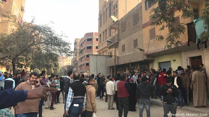 Ägypten Helwan Anschlag auf Mar Mina Kirche (Reuters/A. Abdallah Dalsh)