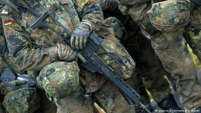 Bundeswehr soldiers training in Germany