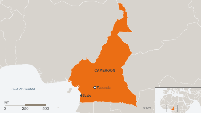 Map of Kribi, Cameroon ENG