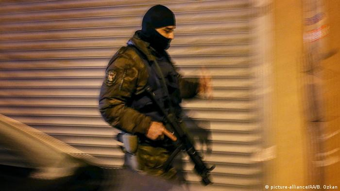 A member of Turkish Police's Counter Terrorism and Special Forces.