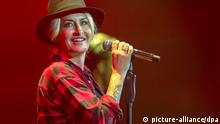 FILE - German singer Sarah Connor performs on stage at the Baloise Session in Basel, Switzerland, 23 October 2015. EPA/GEORGIOS KEFALAS EDITORIAL USE ONLY (zu dpa «Sarah Connor» vom 14.04.2016) +++(c) dpa - Bildfunk+++  