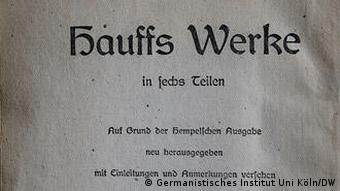 Buchcover Hauffs Werke (Foto: Germanistisches Institut der Universität Köln / DW)