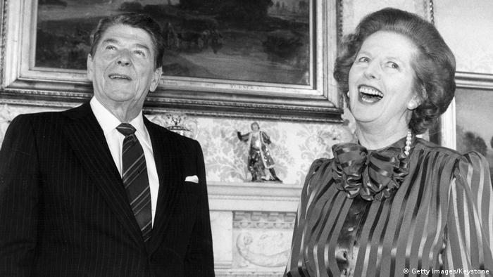 US President Ronald Reagan and British Prime Minister Margaret Thatcher