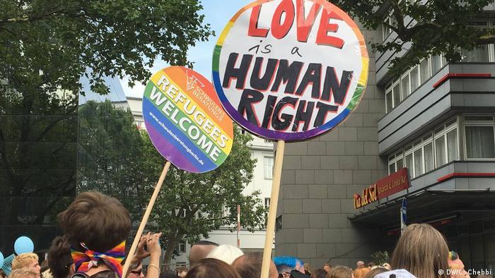Demo for homosexual refugees