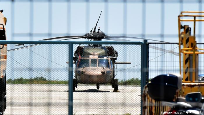 July 2016: A Turkish military helicopter landed in Greece with eight officers seeking asylum