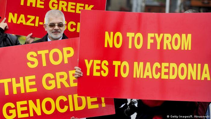 Mazedonien | Proteste gegen den griechischen Außenminister 2014