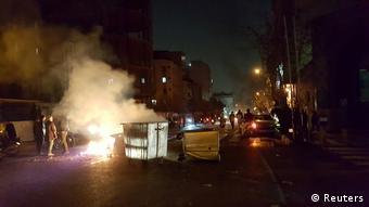 ادامه تظاهرات در تهران
