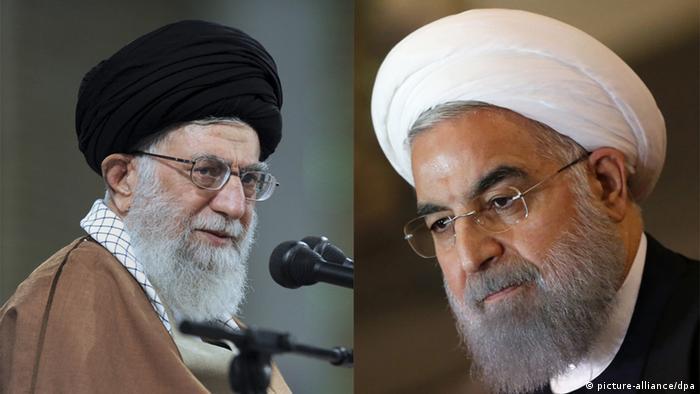Ayatollah Khamenei und Hassan Rohani